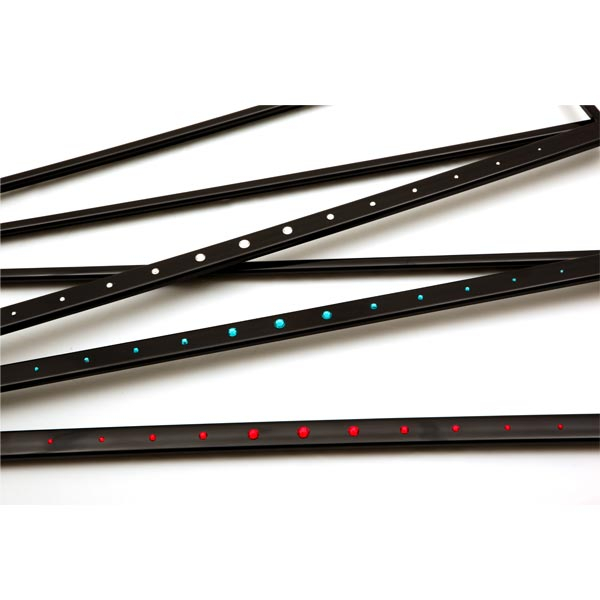 CRYSTALline one-line straight black